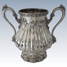 19th Century Rogers, Smith & Co. Silver Plate Two Handled Trophy Cup Vase Urn