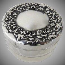 Vintage Sterling Glass Jar