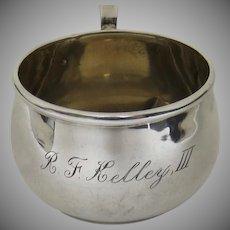 Vintage Webster Sterling Baby Cup Gold Wash Interior