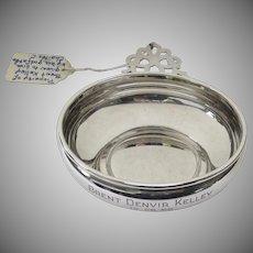 Vintage Gorham Sterling Silver Traditional Porringer Dish Engraved