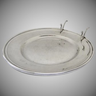 Vintage Gorham Sterling Silver Bread and Butter Plate with Knife Rest