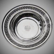 Vintage Sterling Pierced Rim Small Bowl by Watson
