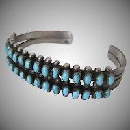 Vintage Sterling Turquoise Bracelet