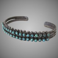 Vintage Native American Turquoise and Sterling Bracelet