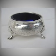 English Silver Sterling Salt by Daniel & Charles Houte 1840