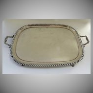 Beautiful Rectangular footed Sheffield Tray