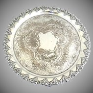 English Round Tray footed with Parra Leaf