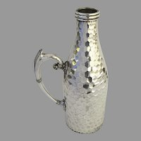 Large Silver Plate Bottle Wine Pourer Hinged