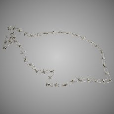 Long Sterling Hand Made Link Chain