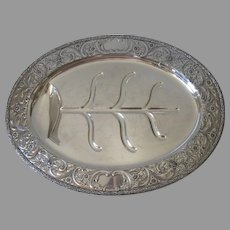 E. G. Webster Silver Plated Meat Footed Platter/Tray Quality