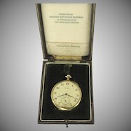 Waltham 19 Jewels Pocket Watch Packard Car Company 14K Case