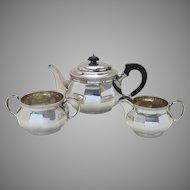 1920's Walker Hall English Sterling Three Piece Tea Set Bachelor Set