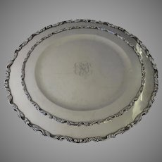 Two Vintage Graduated Sterling Round Trays 925 Sanborns Mexico Mexican 1718 Total Grams Pair Trays