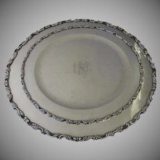 Two Vintage Graduated Sterling Round Trays 925 Sanborns Mexico Mexican 1718 Total Grams