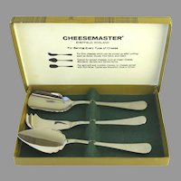 Vintage Stainless Gentry Sheffield England Cheese Servers New in Box