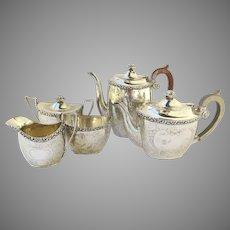 Ellis-Barker Silver Plate 5 Piece Tea Set 1920's