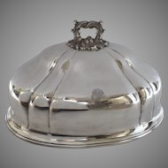 "English Old Sheffield Silver Meat Game Dome Armorial ""Andros"" Blackamoor c 1830"