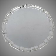 "Charles Stuart Harris Footed Sterling Silver Tray 10"" Diameter"