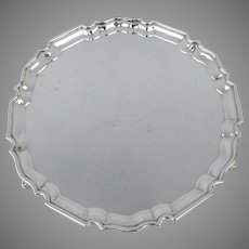 """Charles Stuart Harris Footed Sterling Silver Tray 10"""" Diameter"""
