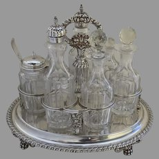 Early 19th Century English Sterling Silver Cruet Stand