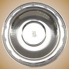 Vintage International Sterling Serving Bowl Platter Monogrammed 598 grams