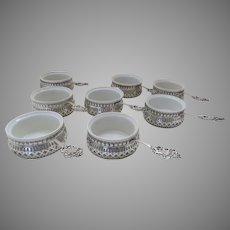 8 x Sterling c 1900 Ramekins by Howard Sterling Co. Pierced Solid Base