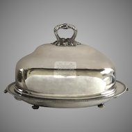Early Sheffield Large Huge Meat Dome and Platter with Water Reserve c 1800