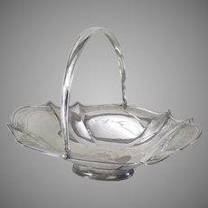 English Sterling Silver Large Swing Handle Basket c 1805 by Thomas Harper