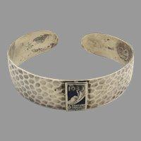"""1933 Chicago World's Fair Sterling Bracelet Enamel """"Centruy of Progress"""""""