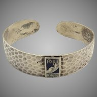 "1933 Chicago World's Fair Sterling Bracelet Enamel ""Centruy of Progress"""