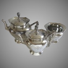Vintage Wilcox Silverplate Tea Set Three Pieces Aesthetic