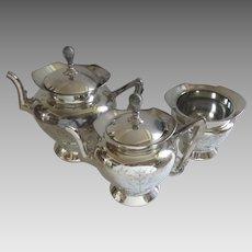 Vintage Wilcox Silverplate Tea Set Three Pieces Aesthetic