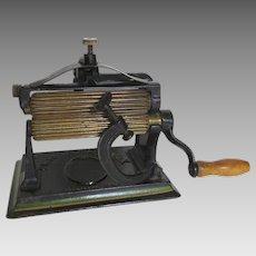 ORIGINAL KNOX Iron Fluting Crimping Machine c 1890