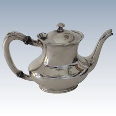 "Vintage Reed & Barton Hotel Silver Individual Tea Pot ""Engineers"" Train"