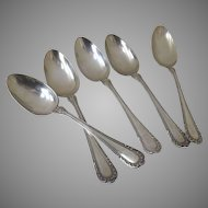 1896 Winthrop Soup Spoons Gorham Electro Plate 7""