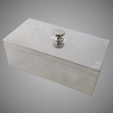 Vintage Stylish Silver Plate Box with Lid Art Deco