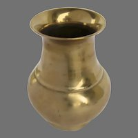 Early 19th Century Sand Cast Brass Vase