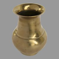 Early 19th Century Sand Cast Brass Vase