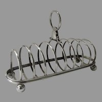 English Silver Plate Large Toast Rack Eight Slice Maker Thomas Wilkinson & Sons Birmingham