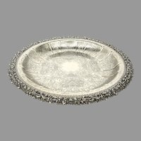 Large 1912 Ellis Barker Menorah Hallmark Silverplate Shallow Bowl