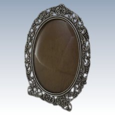 Late 19th Century Netherlands Dutch Hallmarked Silver Frame Convex Glass Easel Back