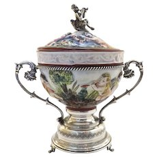 "Capo di Monte Capodimonte Reuge STE Croix Music Box 800 Silver ""Love is a Many Splendored Thing"" 1900's"