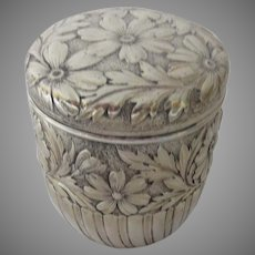 Sterling Silver Lidded Box by Gorham Repousse