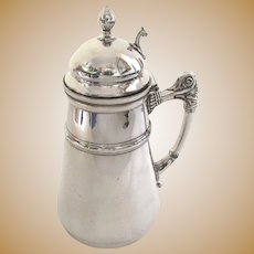 Vintage Silver Plated Syrup Pitcher by Meriden Britannia Co.