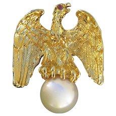 Vintage Costune Ann Hand Eagle Pin Brooch