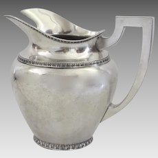 1930's Silver Plated Water Pitcher by Hartford Silver Co. Classic