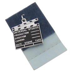 Vintage Movie Director's Clapperboard Clapper Enamel Charm