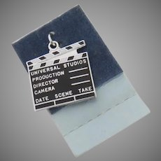 Vintage Movie Director's Clapperboard Clapper Enamel Charm