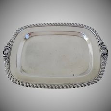 Small Vintage Silver Plated Rectangular Salver Tray