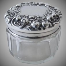 Vintage 1900's La Pierre Sterling Silver Dresser Jar Box